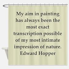 hopper9.png Shower Curtain