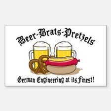 Funny German Rectangle Decal