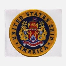 USS AMERICA Throw Blanket