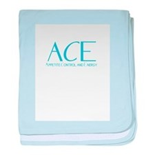 ACE logo 2 baby blanket