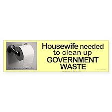 Housewife needed in Washington DC bumper sticker