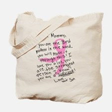 Dear Mommy - From your son Tote Bag