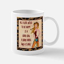 """""""All A Cowgirl Needs..."""" Small Small Mug"""