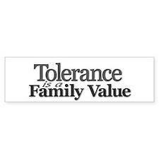 """Tolerance"" Bumper Bumper Sticker"