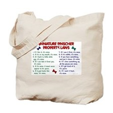 Miniature Pinscher Property Laws Tote Bag