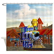 Toon Train Shower Curtain