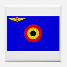 Belgian Flag Tile Coaster