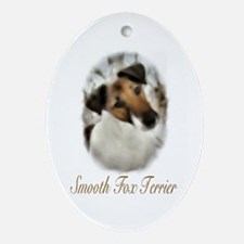 Smooth Fox Terrier Ornament (Oval)