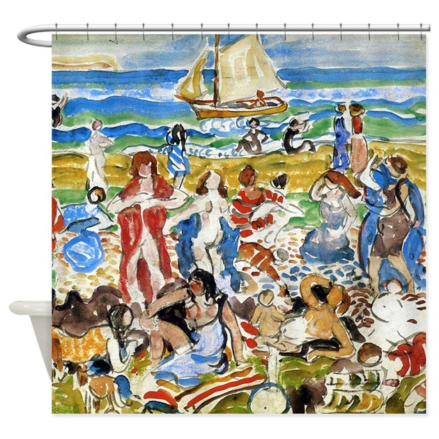 Maurice prendergast bathers shower curtain by iloveyou1 for Design your own bathers