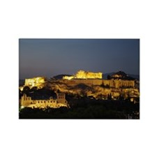 Night view of the Acropolis Rectangle Magnet