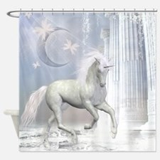 White Unicorn 2 Shower Curtain