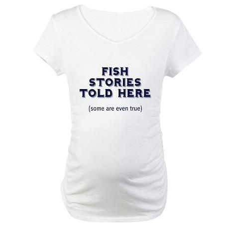 Fish Stories Maternity T-Shirt