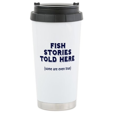 Fish Stories Stainless Steel Travel Mug