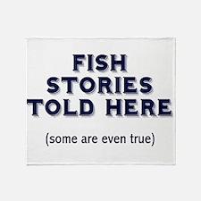 Fish Stories Throw Blanket