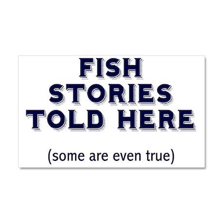 Fish Stories Car Magnet 20 x 12