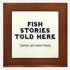 Fish Stories Framed Tile