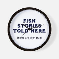 Fish Stories Wall Clock