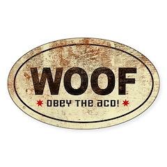 WOOF! Australian Cattle Dog Oval Decal