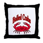 Boiled Crabs Throw Pillow