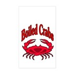 Boiled Crabs Rectangle Sticker