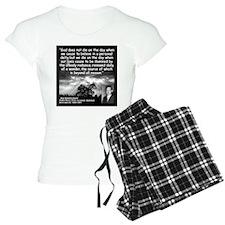Hammarskjold God Quote 2 Pajamas