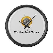 Bitcoin Large Wall Clock