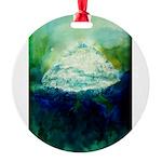 Snowy Mountain Round Ornament
