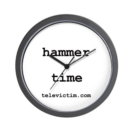 """hammer time"" Wall Clock"