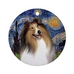 Famous Art: Starry Night - Colie Ornament (Round)