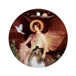 Famous Angel: Collie 1 Ornament (Round)