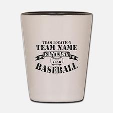 Personalized Fantasy Baseball Shot Glass