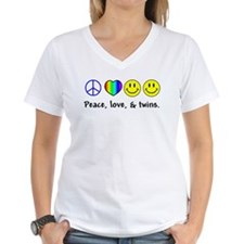 104 peace love twins T-Shirt
