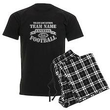 FANTASY FOOTBALL PERSONALIZED GREY Pajamas
