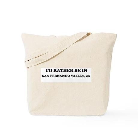 Rather: SAN FERNANDO VALLEY Tote Bag