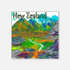 "New Zealand Square Sticker 3"" x 3"""