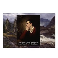 Lord Byron They sweet voice Quote Postcards (Packa