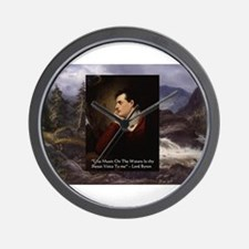 Lord Byron They sweet voice Quote Wall Clock