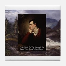 Lord Byron They sweet voice Quote Tile Coaster