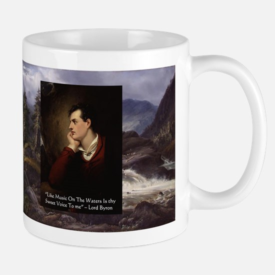 Lord Byron They sweet voice Quote Mug