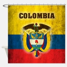 Vintage Colombia Shower Curtain