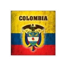 "Vintage Colombia Square Sticker 3"" x 3"""