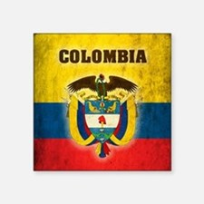 "Vintage Colombia Square Sticker 3"" x 3"""
