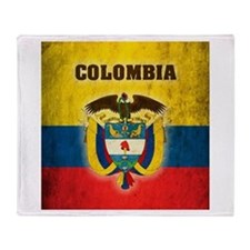 Vintage Colombia Throw Blanket