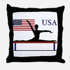 USA Gymnastics Throw Pillow
