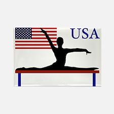 USA Gymnastics Rectangle Magnet
