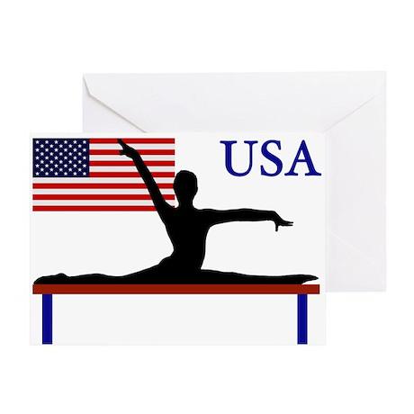USA Gymnastics Greeting Card