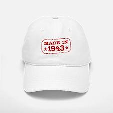 Made In 1943 Baseball Baseball Cap