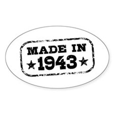 Made In 1943 Decal