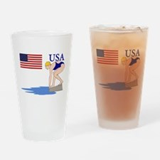 USA Swimming Drinking Glass