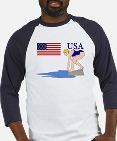 USA Swimming Baseball Jersey